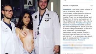 salma hayek - t-shirt ospedale