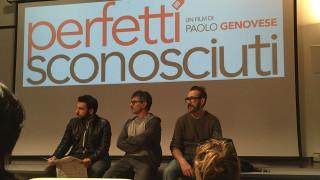 Regista e attori durante la presentazione del film a Palermo